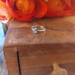 Jewelry - Sterling silver & symbol ring dainty minimalist